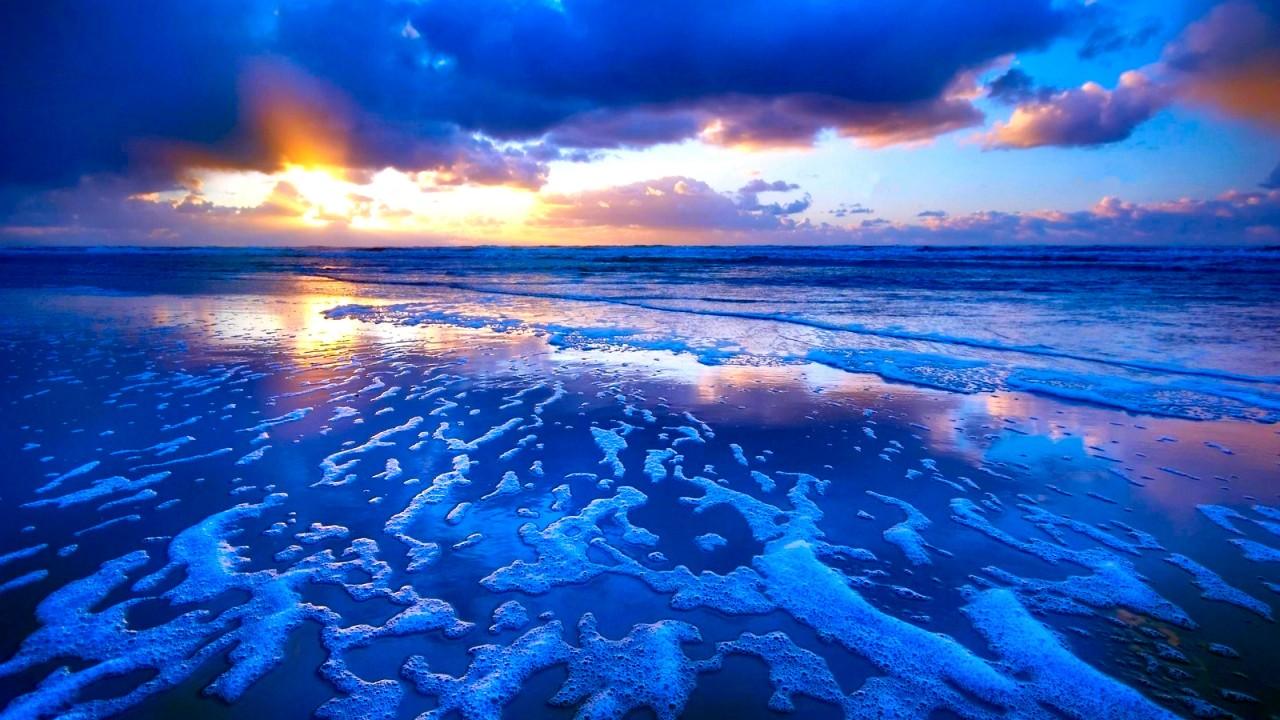 tide sunset waves wallpaper 374 1280x720 720p